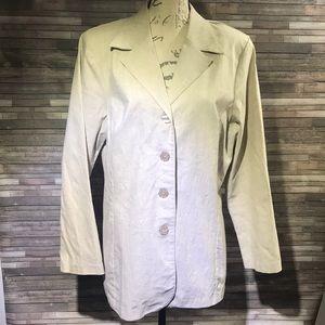 Danielle B Vintage Linen Tan Jacket Size 14
